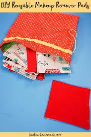 make diy reusable makeup remover pads