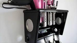 blow dryer curling iron salon appliance holder curling iron wall mount