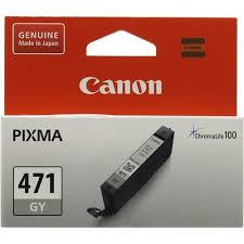 Оригинальный <b>картридж Canon CLI-471GY</b> (серый) Серый (Grey ...