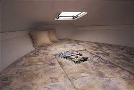 a cuddy cabin generally includes a v berth for sleeping photo courtesy glastron