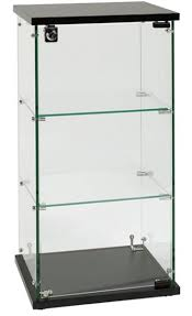 freestanding display with 6 glass shelves freestanding window
