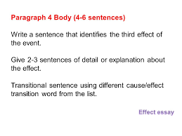 cause and effect essays ppt  22 paragraph