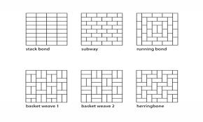 Subway Tile Layout Patterns Large Acbcccfd