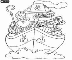 Kleurplaat Sinterklaas In De Stoomboot Kleurplaten