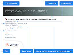 cite a journal article in apa style