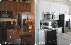 painting wood cabinets whitepainting wood kitchen cabinets white before and after