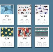Calender Design Template 2019 Calendar Free Vector Download 1 532 Free Vector For