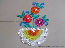 Small Picture Easy and small flower pot rangoli using quilling comb Creative