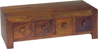 jaipur dakota walnut mango wood 8 drawer coffee table