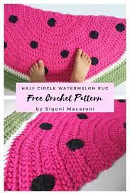 free crochet pattern watermelon rug