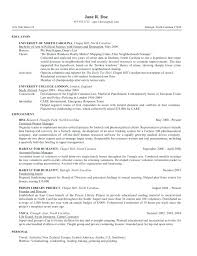 Law School Application Resume