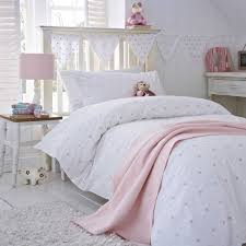 stars pink organic cotton duvet cover collection