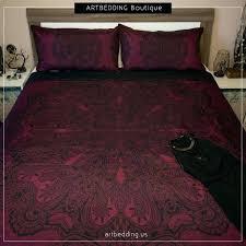 black lace duvet cover bohemian bedding burdy red black mandala duvet cover set lace mandala duvet