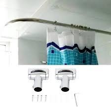 practical stainless steel brushed nickel curved shower curtain rod bath area bathtub accessory type bathroom moen