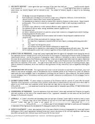 Surrender Of Lease Agreement Template New Residential Lease ...