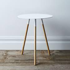 coffee table cloth steel wood round side table on food52