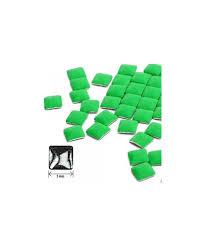 Ozdoby Na Nehty čtverec Neon Zelené