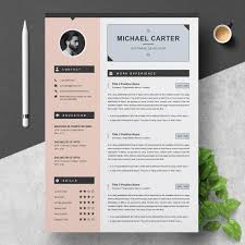 Modern Looking Font For Resume Modern Resume Cv Template 3 Pages
