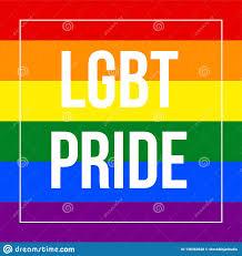 LGBT Pride Text in Der Regenbogen-Flaggen-Lesbe, Homosexuelles, Bisexuelles  Und Im Transgender LGBT-Gruß-Karten-Entwurf Vektor Abbildung - Illustration  von bewegung, paare: 138362628