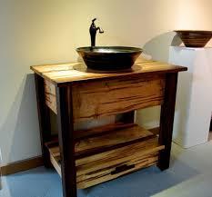 Traditional Legion Inch Sink Rustic Bathroom Vanity Black Marble