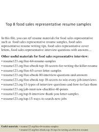 Top 40 Food Sales Representative Resume Samples Enchanting Sales Rep Resume