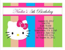 Hello Kitty Invitation Hello Kitty Birthday Invitation 11 From Southern Desktop Publishing