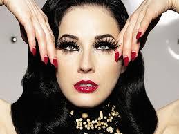 dita von teese inspired e back vine makeup beauty life