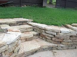 natural retaining wall stone steps hillsboro mo