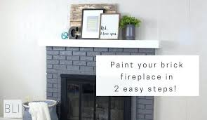 painting fireplace brick paint your brick fireplace in two easy steps the quick and easy way