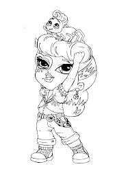 monster high cleo de nile coloring pages printable elegant baby new cl