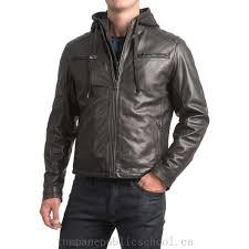 xqglkbyb bod christensen sheepskin leather moto jacket detachable hood for men