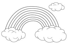 Small Picture An Unique Rainbow Between Two Clouds Coloring Page Download