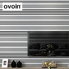 Horizontal Wallpaper Designs New Modern Feature Designer Striped Decor Wallpaper Black