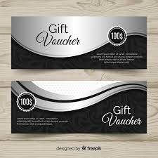 Gift Voucher Template Elegant Gift Voucher Template With Silver Style Vector