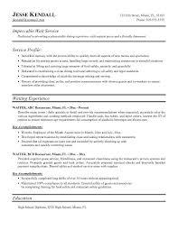resume examples kenneth l baldwin restaurant - Resume Objective For  Restaurant