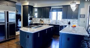 Dark Grey Kitchen Countertops Table Height Undermount Stainless