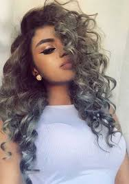 gray curly hairstyles