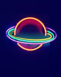 Planet Neon Light Saturn Day Lights