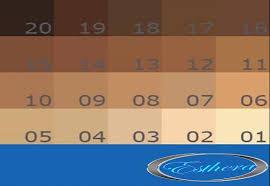 Skin Tone Chart Skin Tone Chart Esthera Glutathione Pills Antioxidant