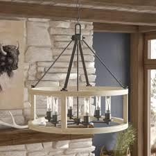 wood ceiling lighting. Maranda 6-Light Foyer Pendant Wood Ceiling Lighting L