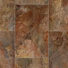 rustic rectangular slate clay 12 ft wide x your choice length residential vinyl sheet