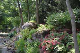 Bouder dive rock and landscaping ideas Mahwah NJ Boulder and stone natural  shade garden ideas Allendale NJ ...