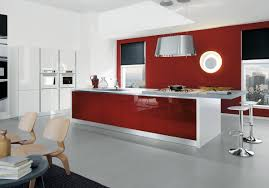 Red Wall Kitchen Elegant Modern Red Wall Kitchen Kitchen Aprar
