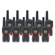 Cobra AM1035 12km Walkie Talkies, Ten Pack - liGo