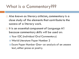 writing an ib commentary ppt video online 2 what