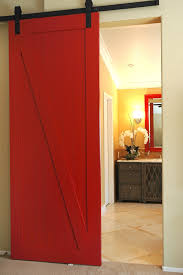 Red Interior Barn Doors • Interior Doors Ideas