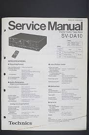 technics sv da10 original dat recorder service manual schematic technics sv da10 original dat recorder service manual schematic diagram o117