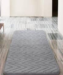 gray chevron bath rug