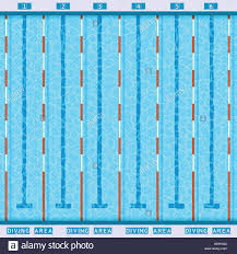 olympic swimming pool lanes. Swimming Pool Top View Flat Pictogram. Olympic Deep Bath Lanes Pictogram With Clean Transparent P
