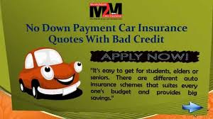 car insurance with no down payment with quotes